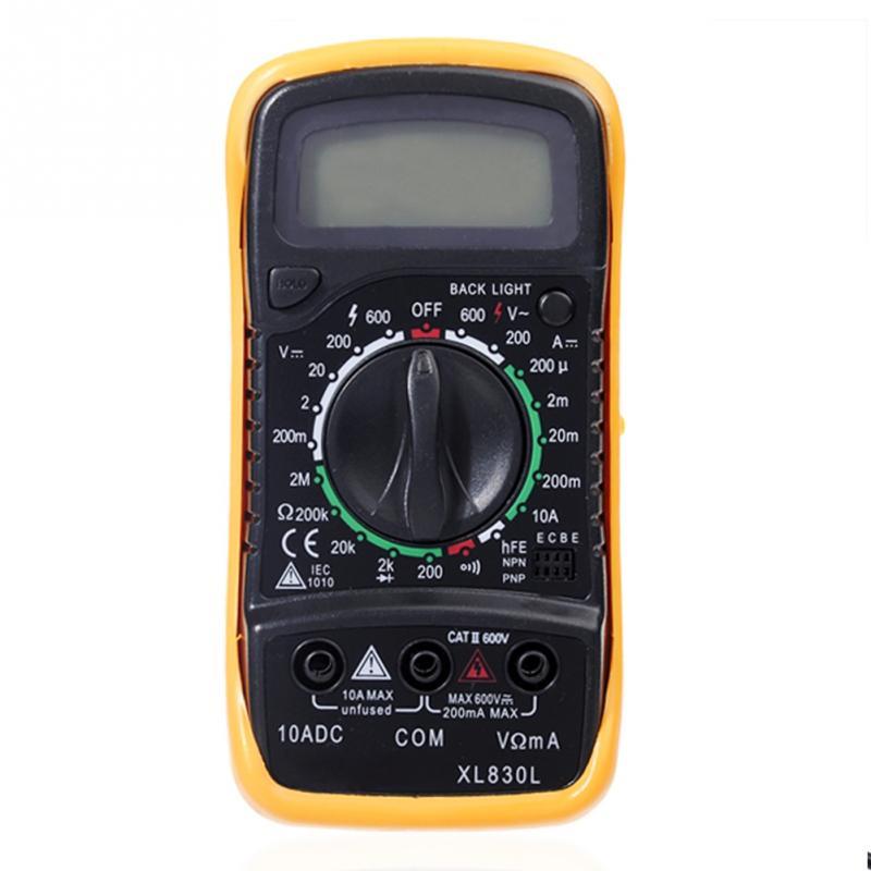 NEW Digital LCD Multimeter Voltmeter Ammeter Ohmmeter OHM VOLT Tester (XL-830L)<br><br>Aliexpress