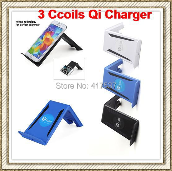 3 Coils Qi Wireless Charging Charger Pad Platform for