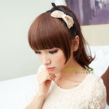 Black hair non-mainstream wig fringe bangs thickening lengthen wig piece wig fringe