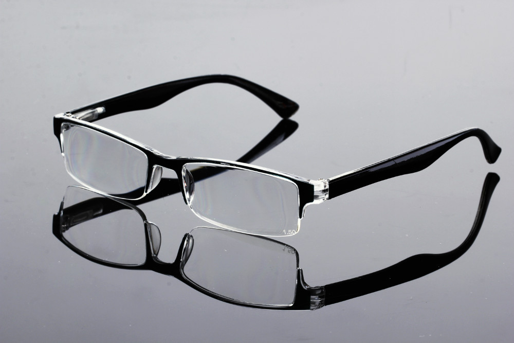 Reading Glasses No Frame : New Designer Mens Womens Half Rimless Reading Glasses ...