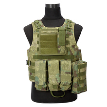 Buy 2017 Camouflage Hunting Military Tactical Vest Wargame Body Molle Armor Hunting Vest CS Outdoor Equipment 5 Colors for $28.71 in AliExpress store