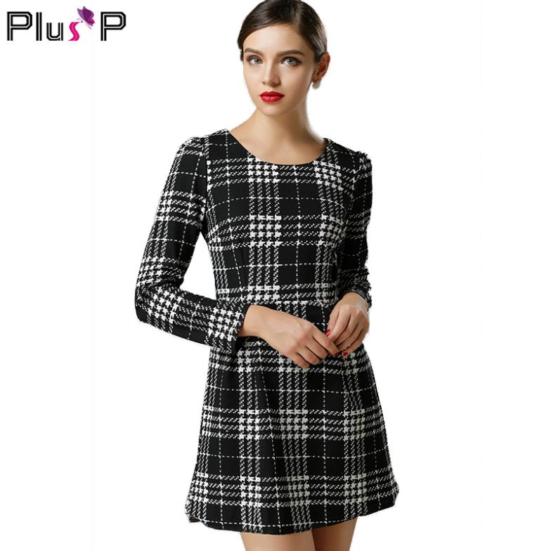 Plus Size Women Clothing New Spring Women Dress Black And