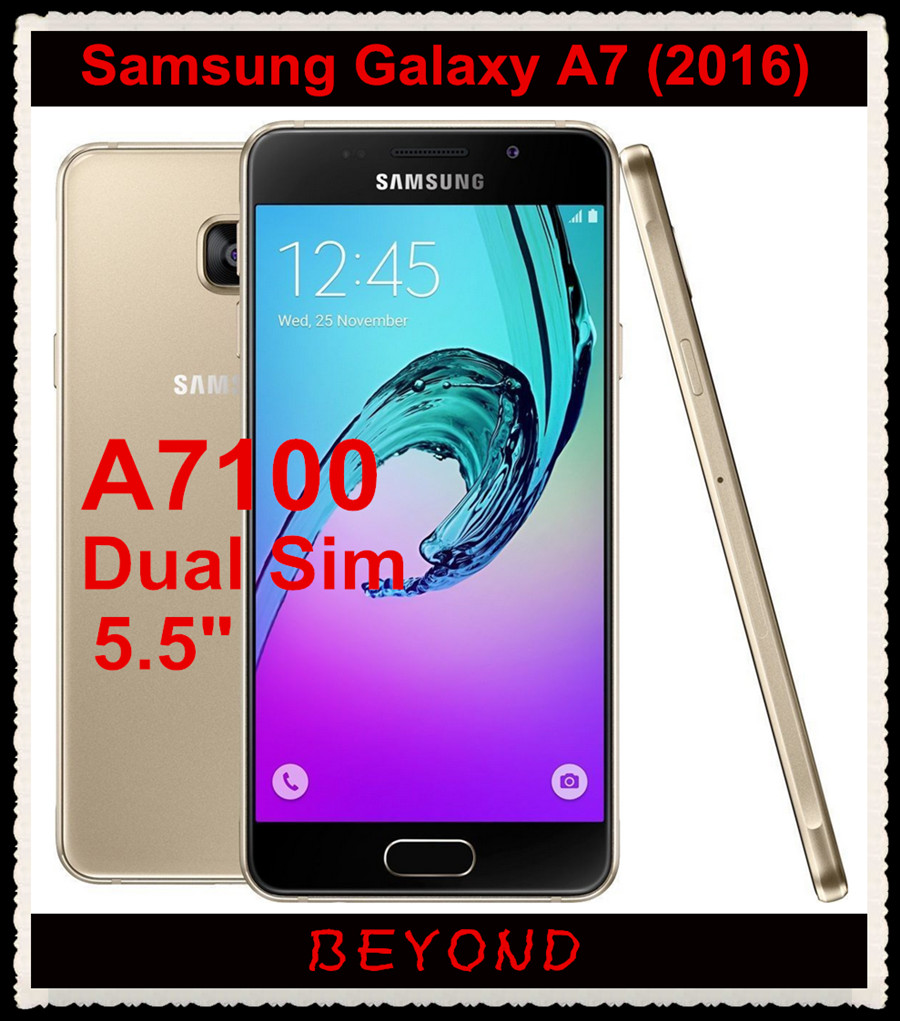 "Samsung Galaxy A7 A7100 2016 Original Unlocked 4G LTE Android Mobile Phone Dual Sim Octa Core 5.5"" 13MP RAM 3GB ROM 16GB 3300mAh(China (Mainland))"