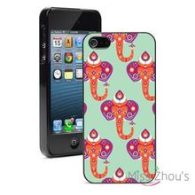 Oriental India Elephants Protector back skins mobile cellphone cases for iphone 4/4s 5/5s 5c SE 6/6s plus ipod touch 4/5/6