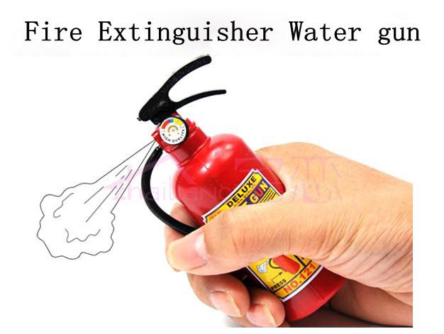Funny Bath Play Fire Extinguisher Water Gun Spraying Toy Halloween Kid Practical Joke Tool(China (Mainland))