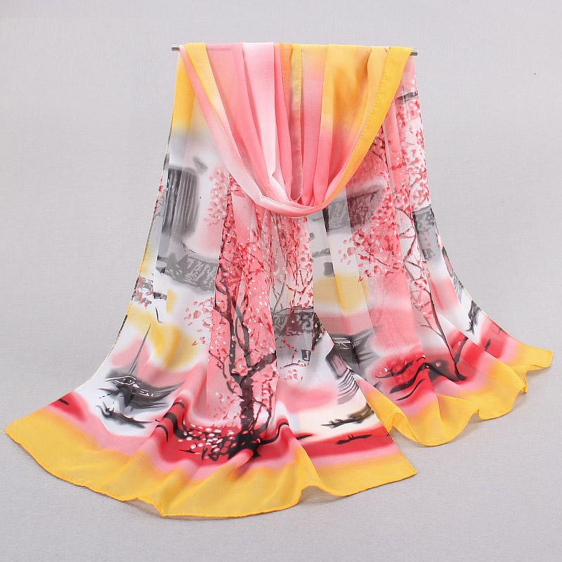 ladies scarves New Limited womens scarfs fashionable 2016 Chiffon Elegant Silk Scarf Women's Spring And Autumn Thin scarf shawl(China (Mainland))