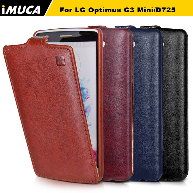 100% Original New Leather vertical Case for LG G3 mini g3 s d725 luxury flip Cover for lg g3 mini G3S mobile phone bags cases(China (Mainland))