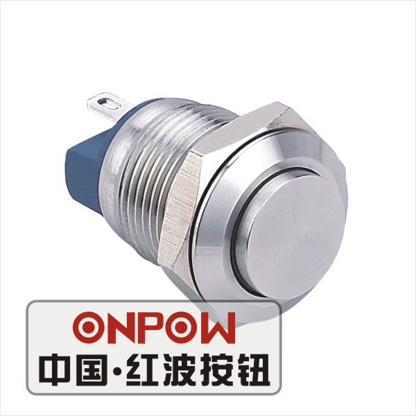 5 pcs/Lot ONPOW 12mm waterproof  momentary normally open small push button switch (GQ12AH-10/J/S) (CE,ROHS) Free shipping!<br><br>Aliexpress