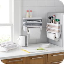 Новая кухня держатель бумажного полотенца полка настенная Пищевой Пленкой резак быстрый Хранения Стойку с slicer резак алюминиевой фольги