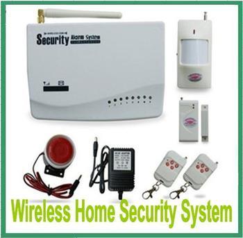 Free Shipping Wireless GSM Home Security Alarm System PIR Door Sensor