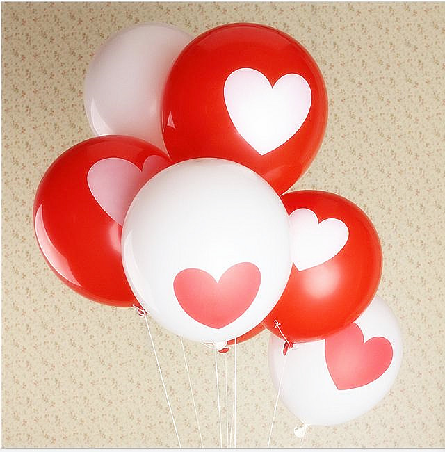 10pcs/lot 12inch Love Heart Pearl latex balloon Float air balls inflatable wedding Christmas birthday party decoration toys(China (Mainland))