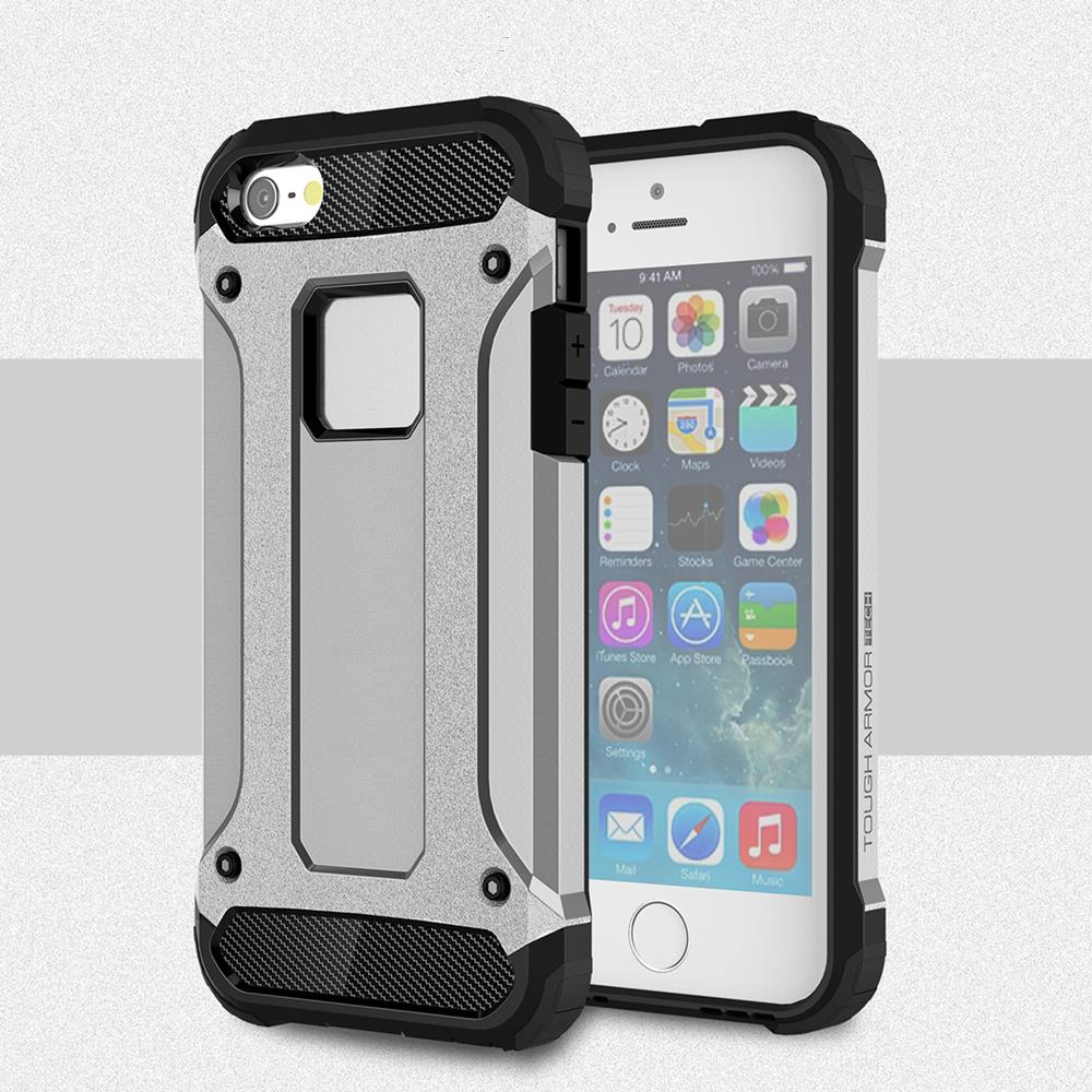 For Apple iPhone 5 Case Heavy Duty Armor Slim Hard Rubber Cover For iPhone 5s Tough Silicone Phone Case for iPhone SE