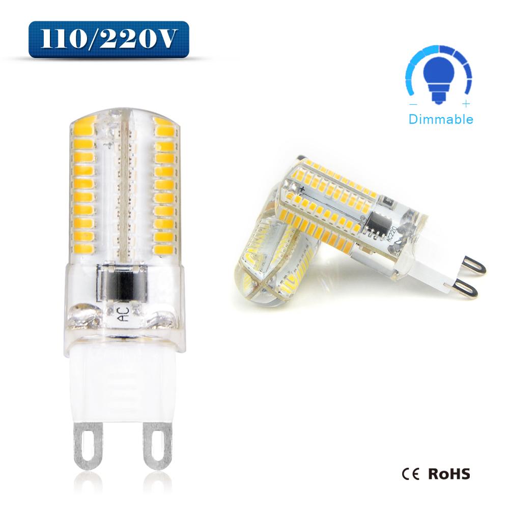 10pcs Dimmable 110V 220V G9 LED corn lamp light 64 80 LEDs Spotlight Bulb Replace 20w 30W halogen lamp For Chandelier Droplight(China (Mainland))