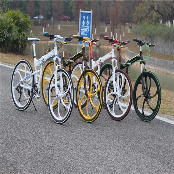 2015 fashion bike cheaper mountain bicycle folding colorfull folding mountain bike hot sales(China (Mainland))