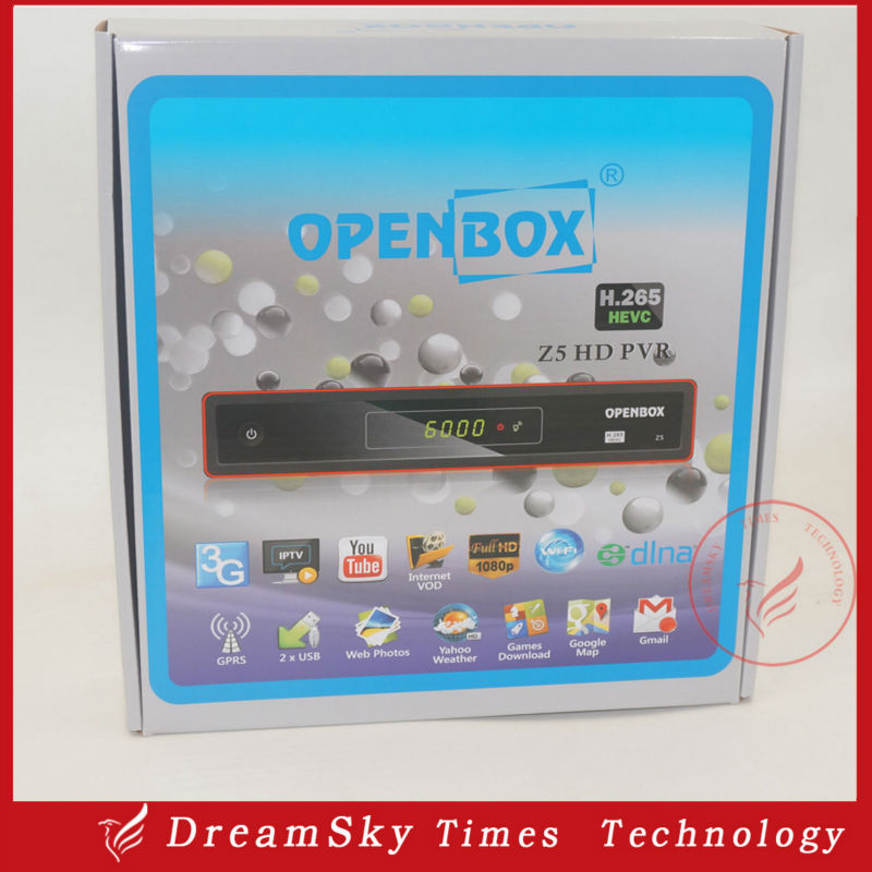 2pcs/lot Original Openbox Z5 Satellite Receiver upgraded from X5 support Youtube Youporn Gmail Google Maps Cccam Newcam(China (Mainland))