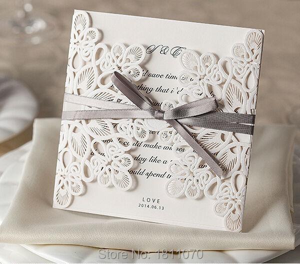 2015 New Design Embossed Laser Cut Wedding Invitations Wedding Decoration Best Quality Wedding Cards LIPK869(China (Mainland))