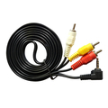 6 Feet 3 5mm Plug to 3 RCA AV Camcorder Audio Video A V Cable for