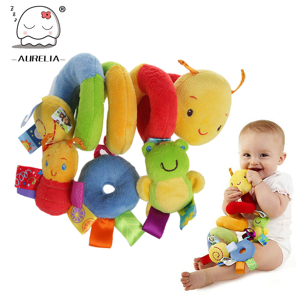 Plush Baby Toy Educational Newborn Mobile Baby Rattles Toys For Kids Colorful Caterpillar Baby Stroller Toys Hanging Hot Sale(China (Mainland))