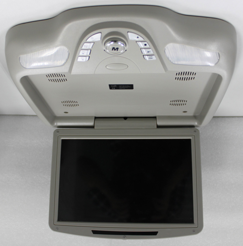 """Free shipping 12"""" car roof mounted dvd player with USB/SD/IR/FM/wireless game(China (Mainland))"""