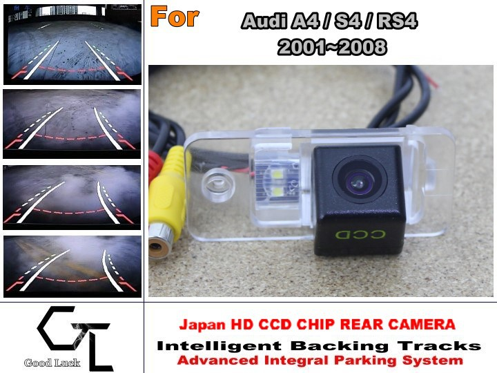 For Audi A4 S4 RS4 2001 ~ 2008 Car Reverse Rear Camera with Parking Assistance Tracks Module / imports HD CCD Night Vision(China (Mainland))