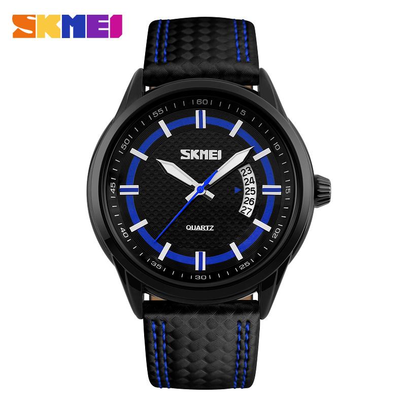 Fashion Watches Men Luxury Brand Skmei Quartz Watch Men Casual Sports Wristwatches Waterproof Clock Leather Relogio Masculino<br><br>Aliexpress