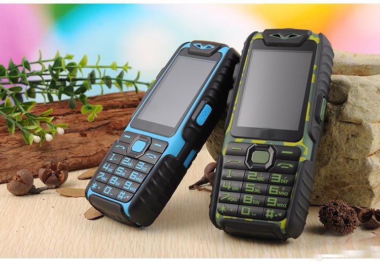 free shipping A6 Mobile Phone With Power Bank 9800mAh Dual Sim Card Shockproof Dustproof Cell Phone A6 (Can ADD Rusian Keyboard)(China (Mainland))