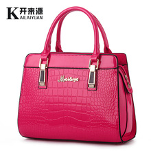 "The new 2016 ""women bag handbag bright paint stone grain high-grade one shoulder laptop bags euramerican style atmosphere"
