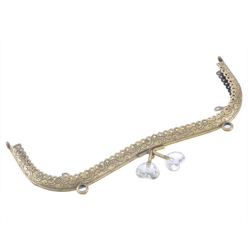 New Fashion Bag Kiss Clasp Lock Hollow Lace Resin Head Clasp For Making Handbag & Purse Accessories Bronze Tone 20.5cmx10cm(China (Mainland))