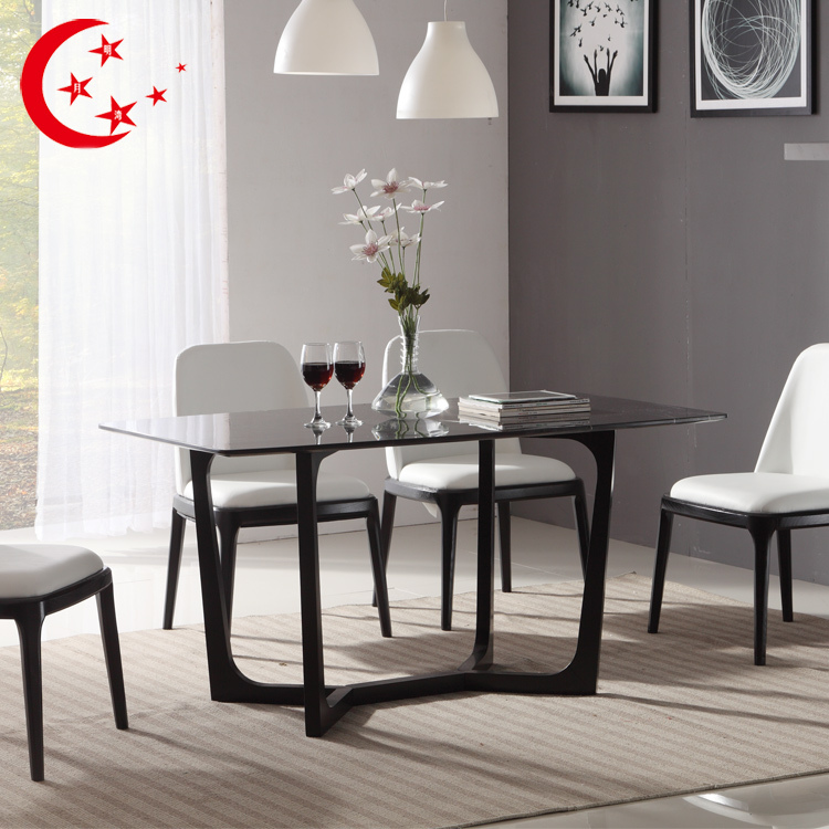 nordic wood dining table marble dining table and chairs combination of