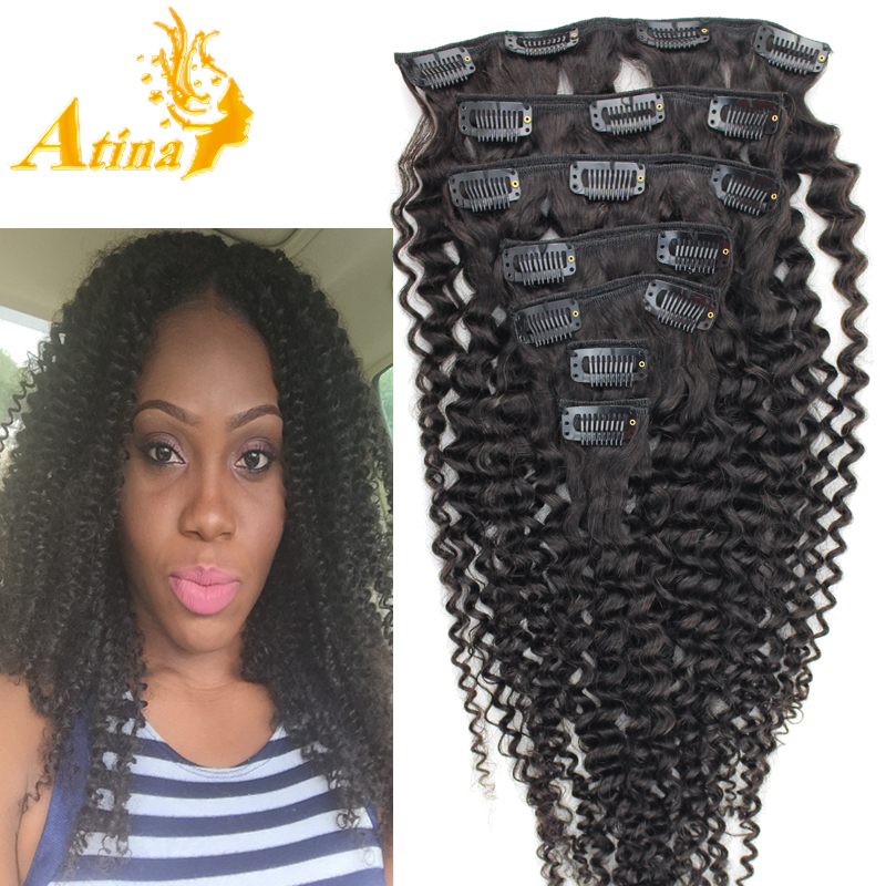 Virgin Kinky Curly Clip In Hair Extensions Human Hair Extensions