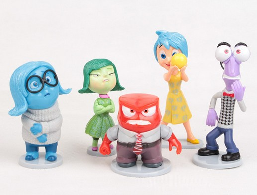 Action Toys For Boys : Pcs set inside out pvc action figures fear happiness
