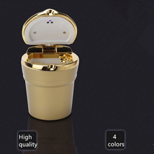 High quality Car ashtray with LED light 920 * 750 * 550 mm Detachable cleaning 4 colors High temperature resistance ashtray(China (Mainland))