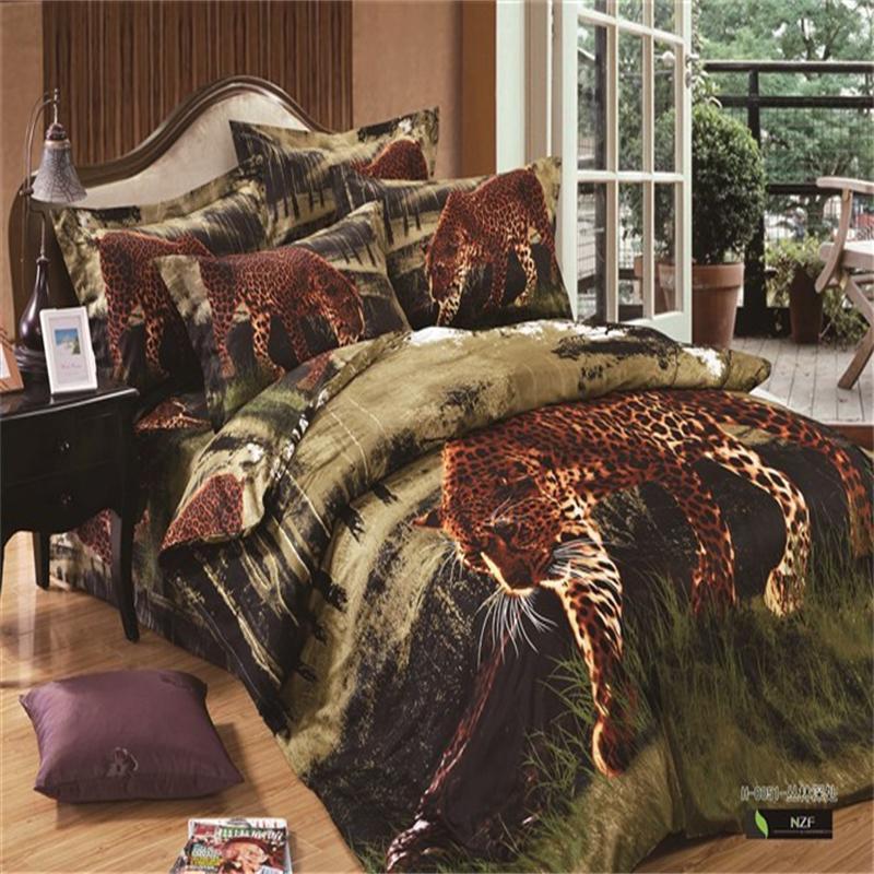Online get cheap jungle animals bedding alibaba group - Cheetah bedspreads ...