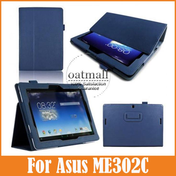 Folio Case For Asus MeMO Pad FHD 10 PU Leather Stand Cover For Asus MeMO Pad FHD 10 Smart ME302C 10.1 Inch Tablet Accessories(China (Mainland))
