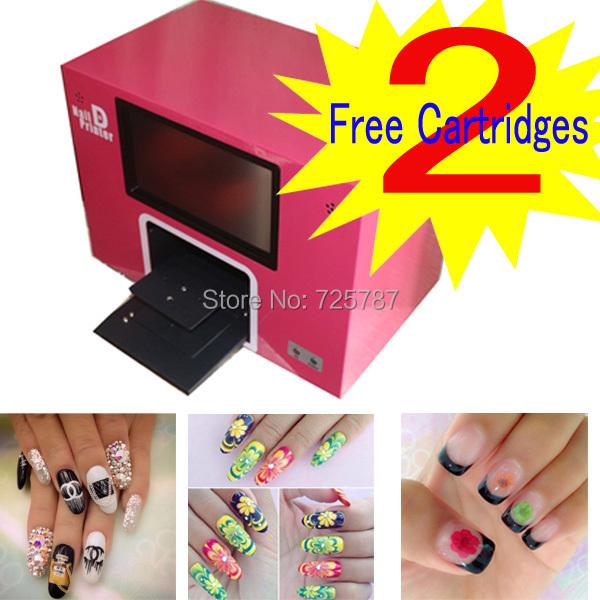 free shipping New upgrade digital nail printer nail printing machine build with computer and monitor(China (Mainland))