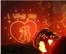 Romantic Decoration Lamps I LOVE YOU Lover Spouse LED Sky projector Night Lights Marry him Courtship props(China (Mainland))