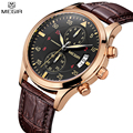 MEGIR Charm Men Chronograph Quartz Watches Military Outdoor Sports Men s Watch Leather Straps Auto Date