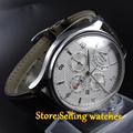 Parnis 43mm Automatic Men s watch Japan 26 jewelry 9100 movement Sapphire watch
