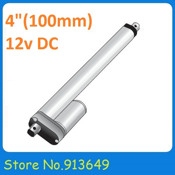 100mm/ 4 inch stroke, 900N/90KG/198LBS load electric linear actuator 12v hot sale(China (Mainland))