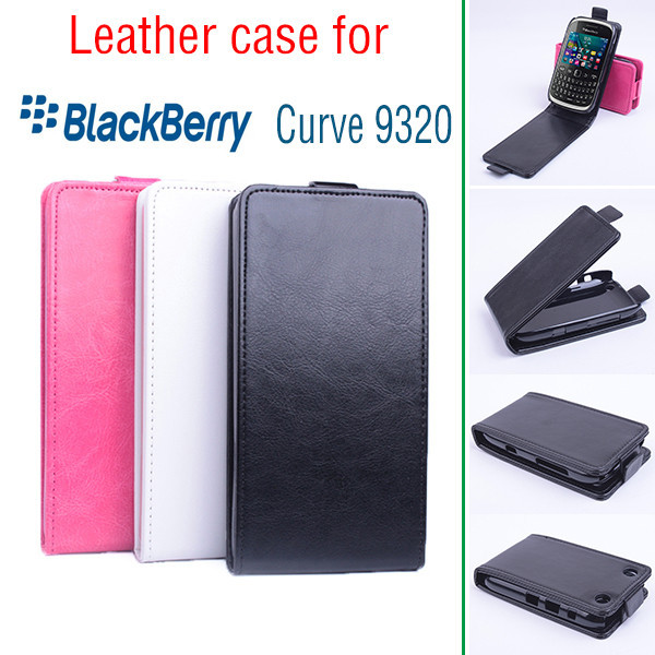 Fashion Book Flip PU Leather Wallet Case Cover Smart phone cases Stand Pouch For BlackBerry Curve 9220 / 9320 case(China (Mainland))
