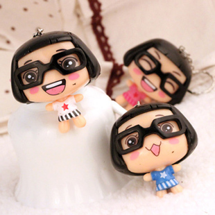 1187 doll mobile phone lovers bags accessories mobile phone chain lanyard 8cm