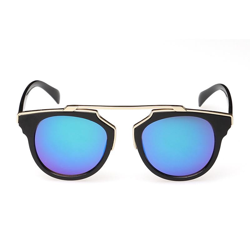 SO REAL Fashion Women Brand Designer Christian Cat Eye Men Retro Mirror Lens Coating Sunglasses oculos polarizado Cheap Model(China (Mainland))