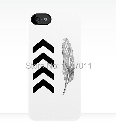 2014 Custom design Liam Payne Chevron Feather Tattoo funny cool hard case cover for iphone 4 4s 5 5s 5c 6 plus(China (Mainland))