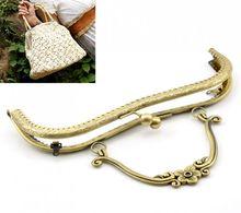 "1PC Antique Bronze Purse Bag Metal Arch Frame Kiss Clasp Lock Handle 21x15cm(8 2/8""x5 7/8"") Mr.Jewelry(China (Mainland))"