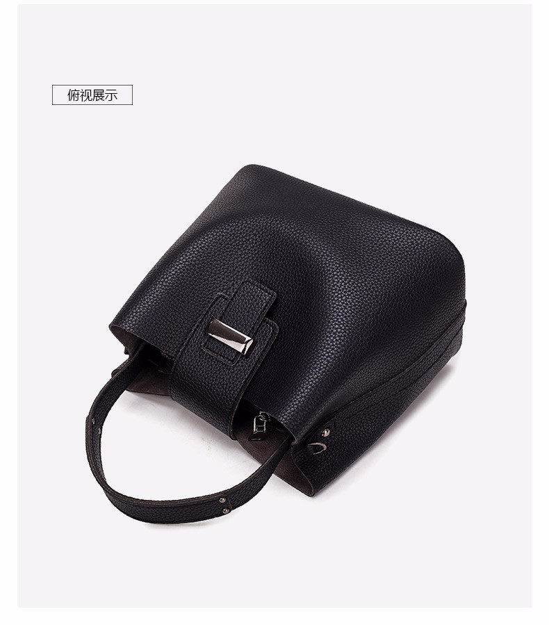 New bucket bags for women 2017 pu leather black handbag designer brand high quality Casual Shoulder Bags ladies tote bag small