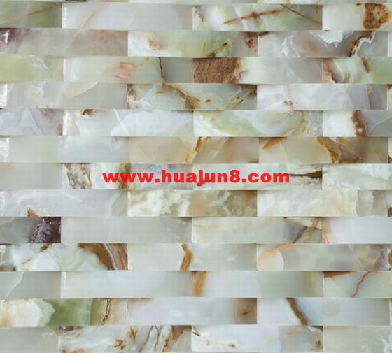 Marbles mosaic tiles(601-0028) for kitchen backsplash or bathroom tile wall-white onyx polished(China (Mainland))