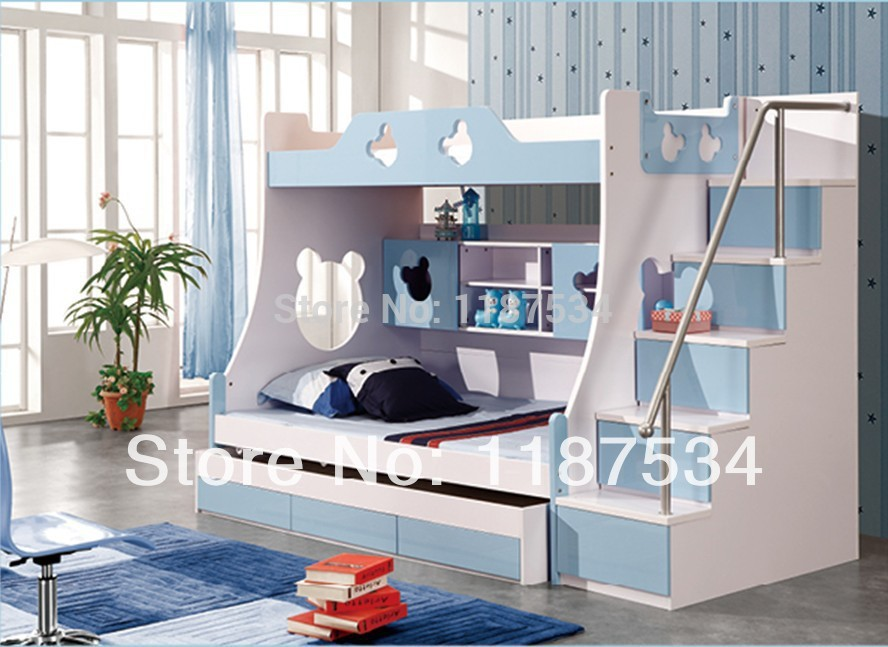 860# Children furniture sets with drawers bunk bed double ...