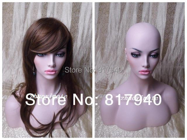 High quality Fiberglass Realistic mannequin dummy head,mannequins display,wigs & hat & glass &  jewelry mannequin head display
