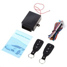 Universal Alarm Systems Car Remote Central Kit Door Lock Locking Vehicle Keyless Entry System New With Remote Controllers(China (Mainland))