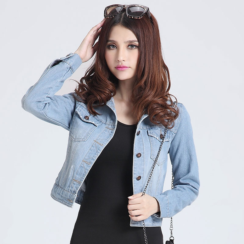 blue jeans jacket women oversized camisa denim jeans feminina blusa jeans shirt jaqueta jeans coat winter plus size xxxxl S-4XL(China (Mainland))